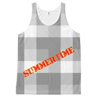 Abstract Summertime All-Over Print Tank Top
