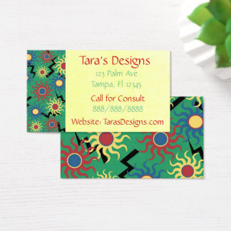 Abstract Sun Colorful Textile Business Cards