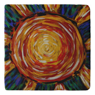 Abstract Sun Colors In Motion Trivets