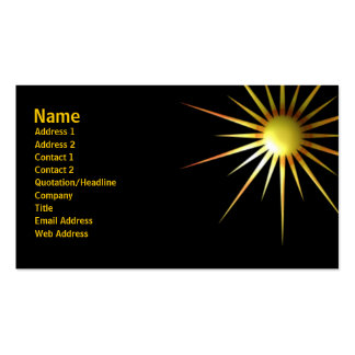 Abstract Sun Pack Of Standard Business Cards