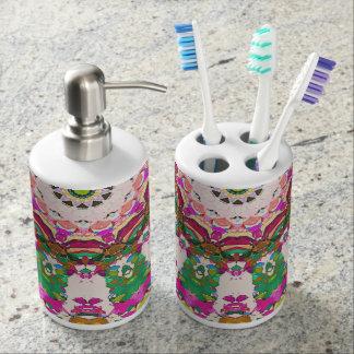 Abstract Sun Rays Mosaic Toothbrush Holder