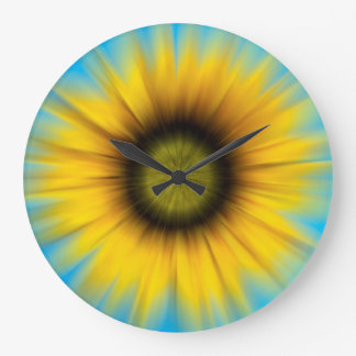 Abstract Sunflower Large Clock