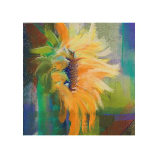 Abstract Sunflower Wood Canvases