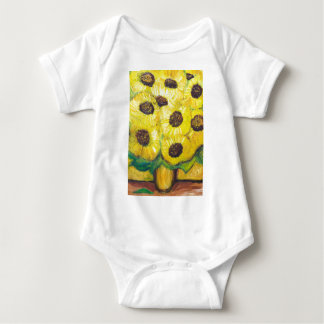 Abstract Sunflowers in the vase Baby Bodysuit