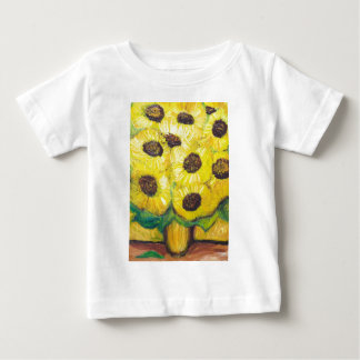 Abstract Sunflowers in the vase Baby T-Shirt