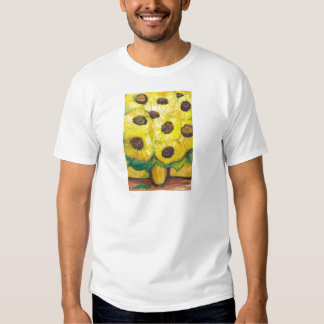 Abstract Sunflowers in the vase Shirts