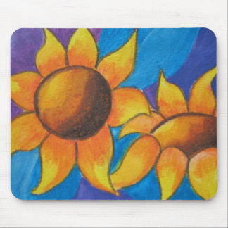 Abstract Sunflowers Painting Mousemat