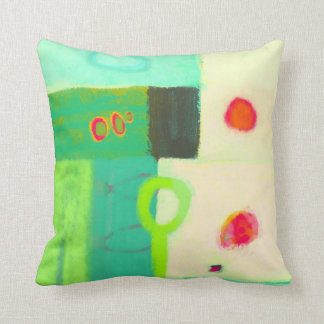 Abstract sunrise in a spring cushion