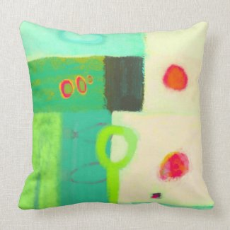 Abstract sunrise in a spring pillows