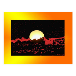 Abstract Sunrise Postcard