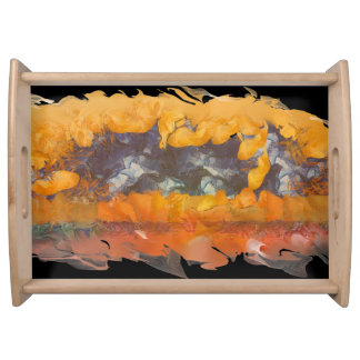 Abstract Sunset 0612 Large Serving Tray, Natural Serving Tray