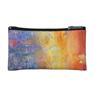 Abstract Sunset Bag Cosmetics Bags