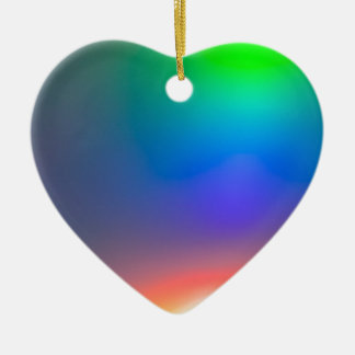 Abstract sunset ceramic heart decoration