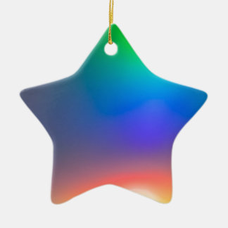 Abstract sunset christmas ornament