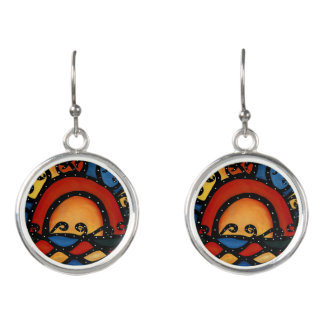 Abstract Sunset Earrings