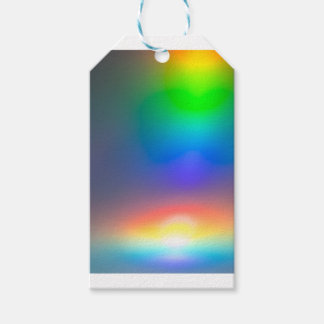 Abstract sunset gift tags