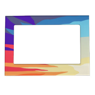 Abstract Sunset Magnetic Frame