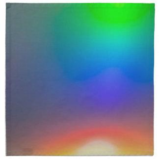 Abstract sunset napkin