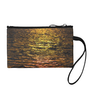 Abstract Sunset on Water Coin Purse