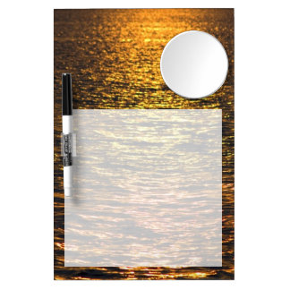 Abstract Sunset on Water Dry Erase Board With Mirror