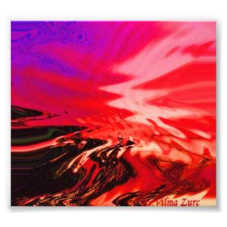 Abstract Sunset Photo Art