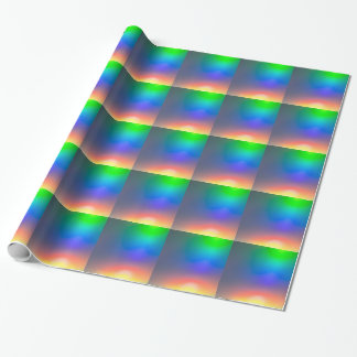 Abstract sunset wrapping paper