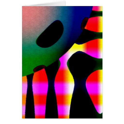 Abstract Sunshine Greeting Cards