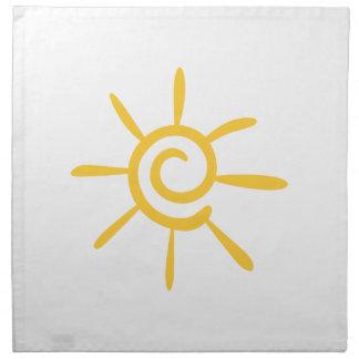 Abstract Sunshine Cloth Napkin
