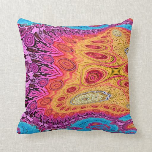 Abstract Sunshine Pillow