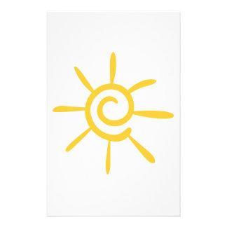Abstract Sunshine Custom Stationery