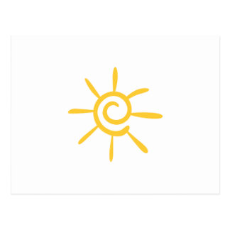 Abstract Sunshine Postcard