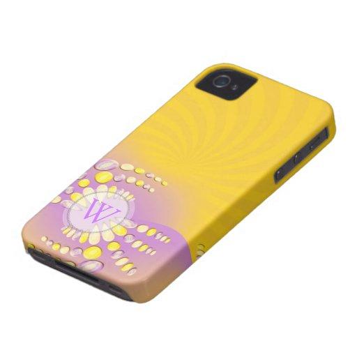 Abstract Sunshine Swirl iPhone 4 Case-Mate