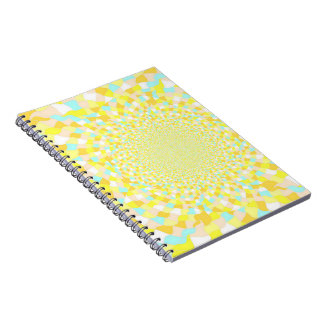 Abstract Sunshine Water Swirl Notebook 80pg