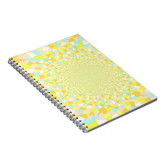 Abstract Sunshine Water Swirl Notebook 80pg