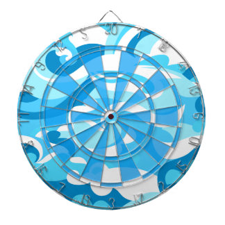 Abstract surf waves dartboard