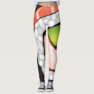Abstract Sushi Roll Leggings
