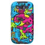Abstract Swagger Doodle Bright Blue Hot Pink Galaxy SIII Case