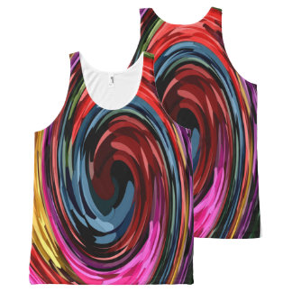 abstract swirl All-Over print tank top
