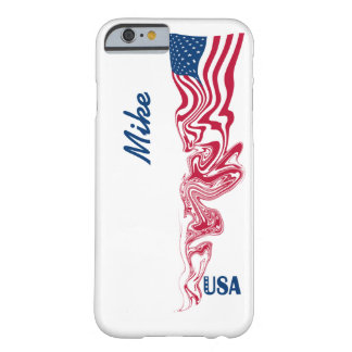 Abstract Swirl American Flag & Navy Blue USA Stars Barely There iPhone 6 Case
