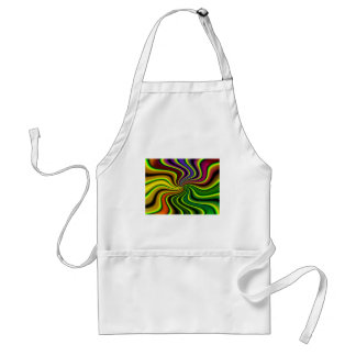 abstract swirl adult apron