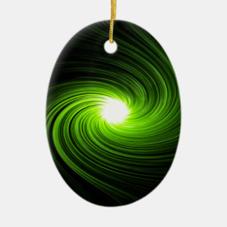 Abstract swirl. ceramic oval decoration