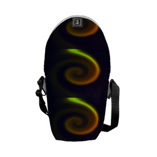 Abstract swirl. courier bag