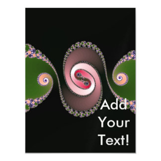 Abstract Swirl Fractal Art Magnetic Invitations