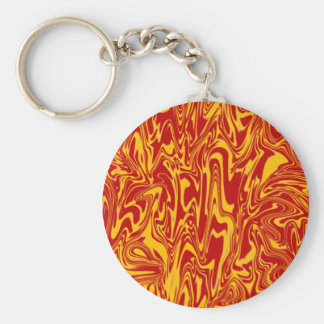 Abstract Swirl Basic Round Button Key Ring