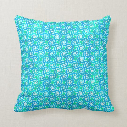 Abstract Swirl pattern - Blue, Jade green &