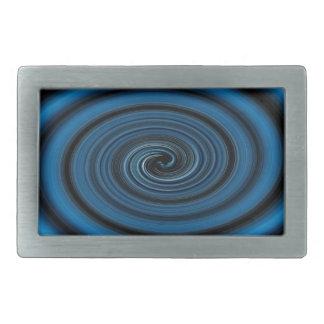Abstract swirl. rectangular belt buckle