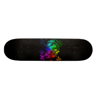 Abstract Swirl Skateboard
