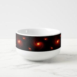 Abstract swirl. soup mug