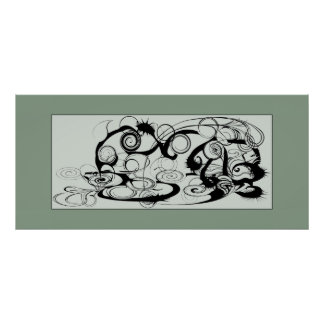 Abstract Swirls And Twirls Poster