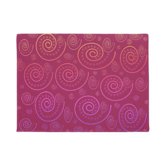 Abstract Swirls Doormat